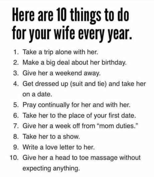 10 things to do for wife