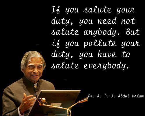 salute your duty