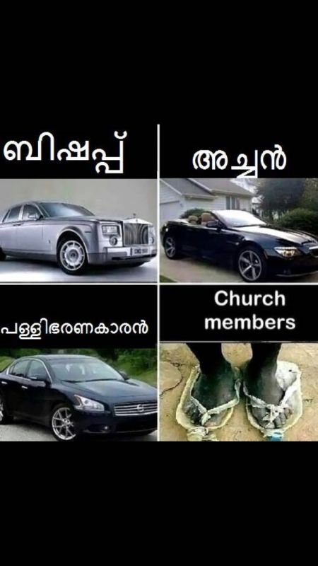 church hierarchy by their cars
