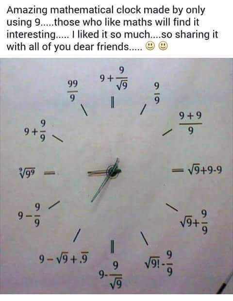 mathematical clock