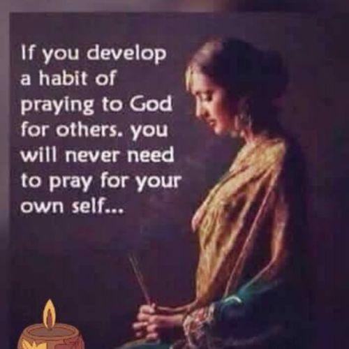 habit of praying