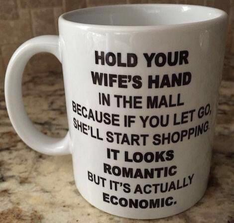 hold your wife's hand