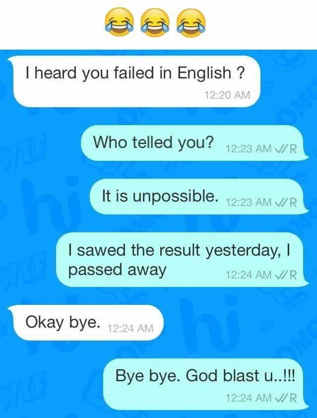 Chat with a person passed in English Exam