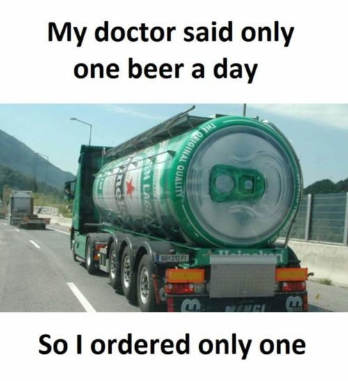 Doctor advised to have one beer a day
