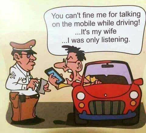 Using phone while driving is not punishable