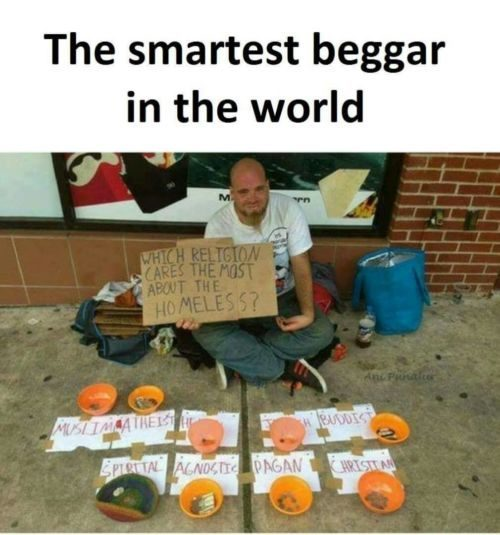 Beggars become​ smart